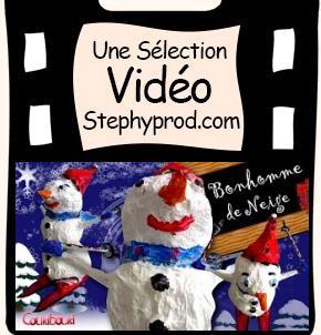 Tutos de Noël de loisirs créatifs en vidéo, notre sélection, le  bonhomme de neige en papier mache