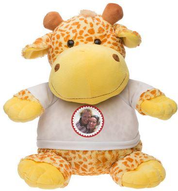 Cadeau de Noel, une peluche personnalisée Henriette la girafe