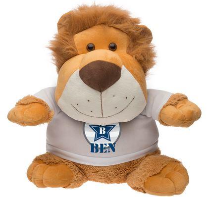 Idée de cadeau de Noel, une peluche personnalisée Leo le lion