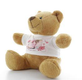 Idée de cadeau de Noel, une peluche personnalisée Olivier l'ours