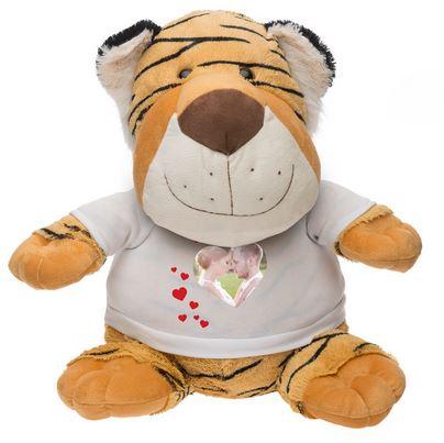Idée de cadeau de naissance, une peluche personnalisée Timmy le tigre