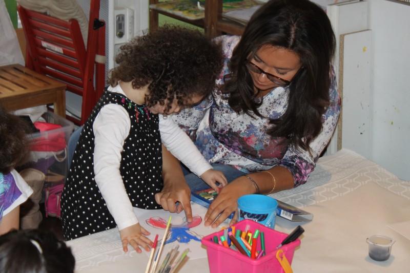 L'atelier des enfants, la semaine, les soirs d'école avec AURELIA