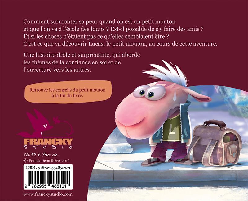 Livre enfant Le petit mouton qui allait à l'école des loups, la couverture