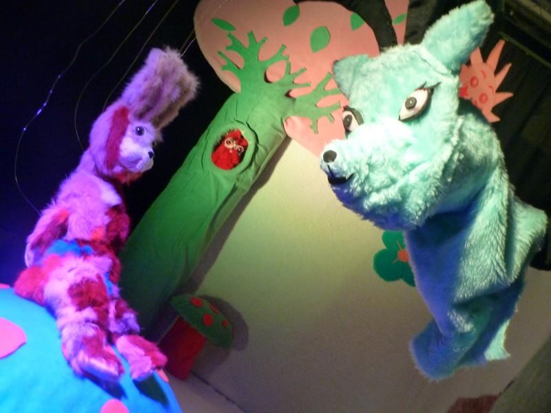 Spectacle de marionnette à Toulouse, Lapidoux et Hubert le cerf.