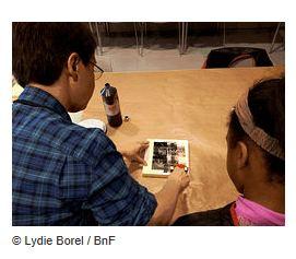 Eté 2016 à la BnF : Ateliers et visites jeunes public  atelier d initiation a la gravure