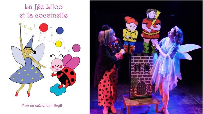 Spectacle jeune public La Fée Liloo et la Coccinelle au festival d'Avignon.
