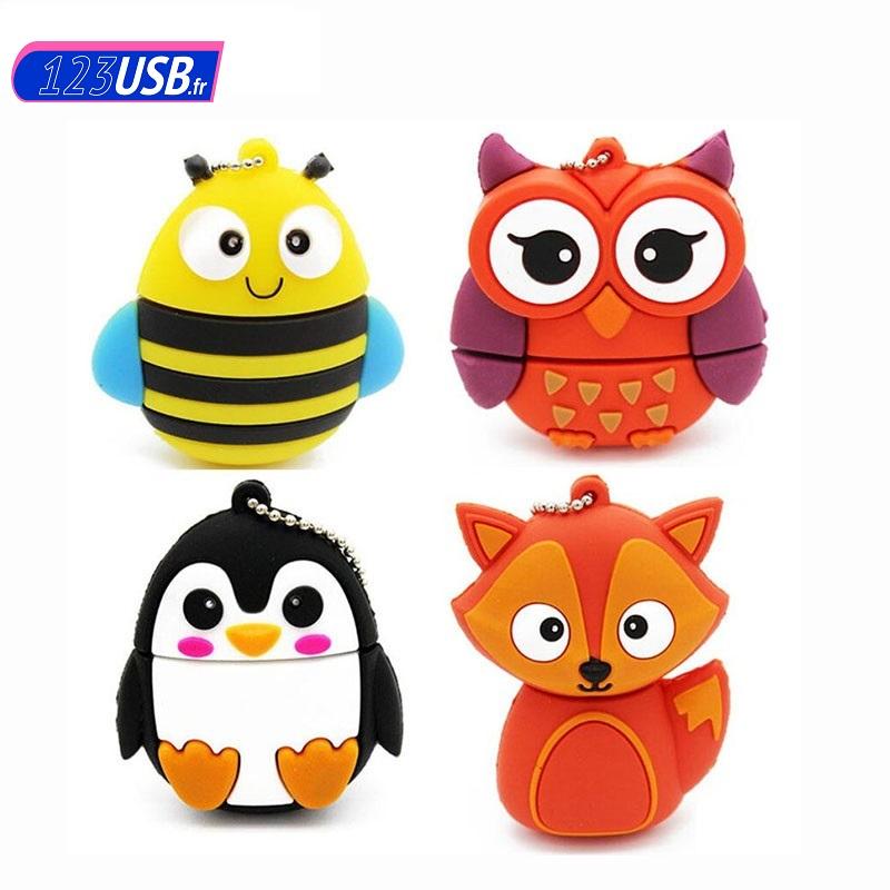 Code Promo clés USB originales et fantaisies à -50% 1 abeille hiboux pingouin renard