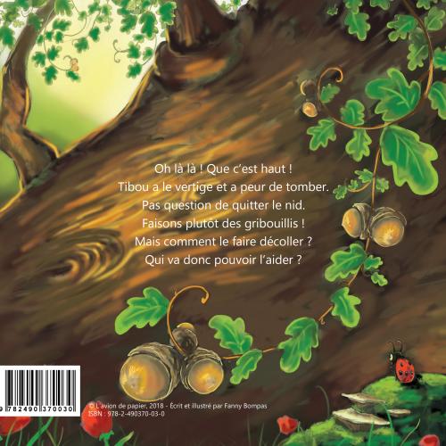 LivreTibou et le crayon magique, une page du livre pour les enfants.