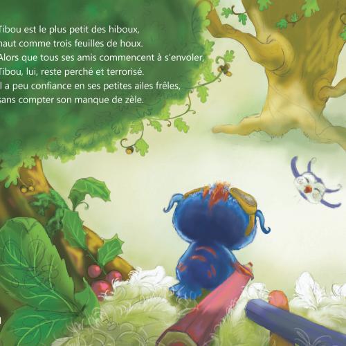 LivreTibou et le crayon magique - L'avion de papier éditions, une page du livre pour les enfants