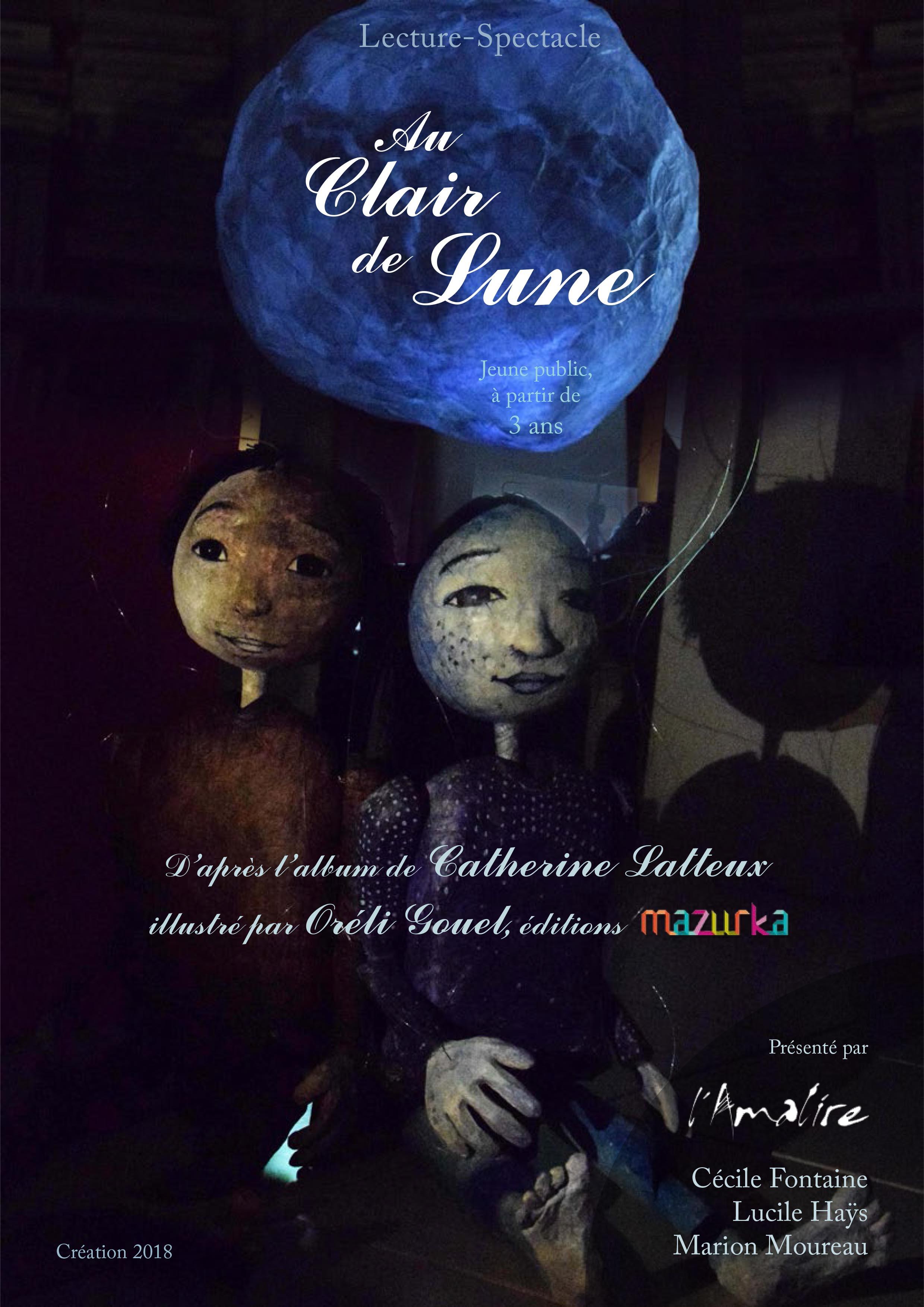 Lecture-Spectacle Au Clair de Lune - Affiche