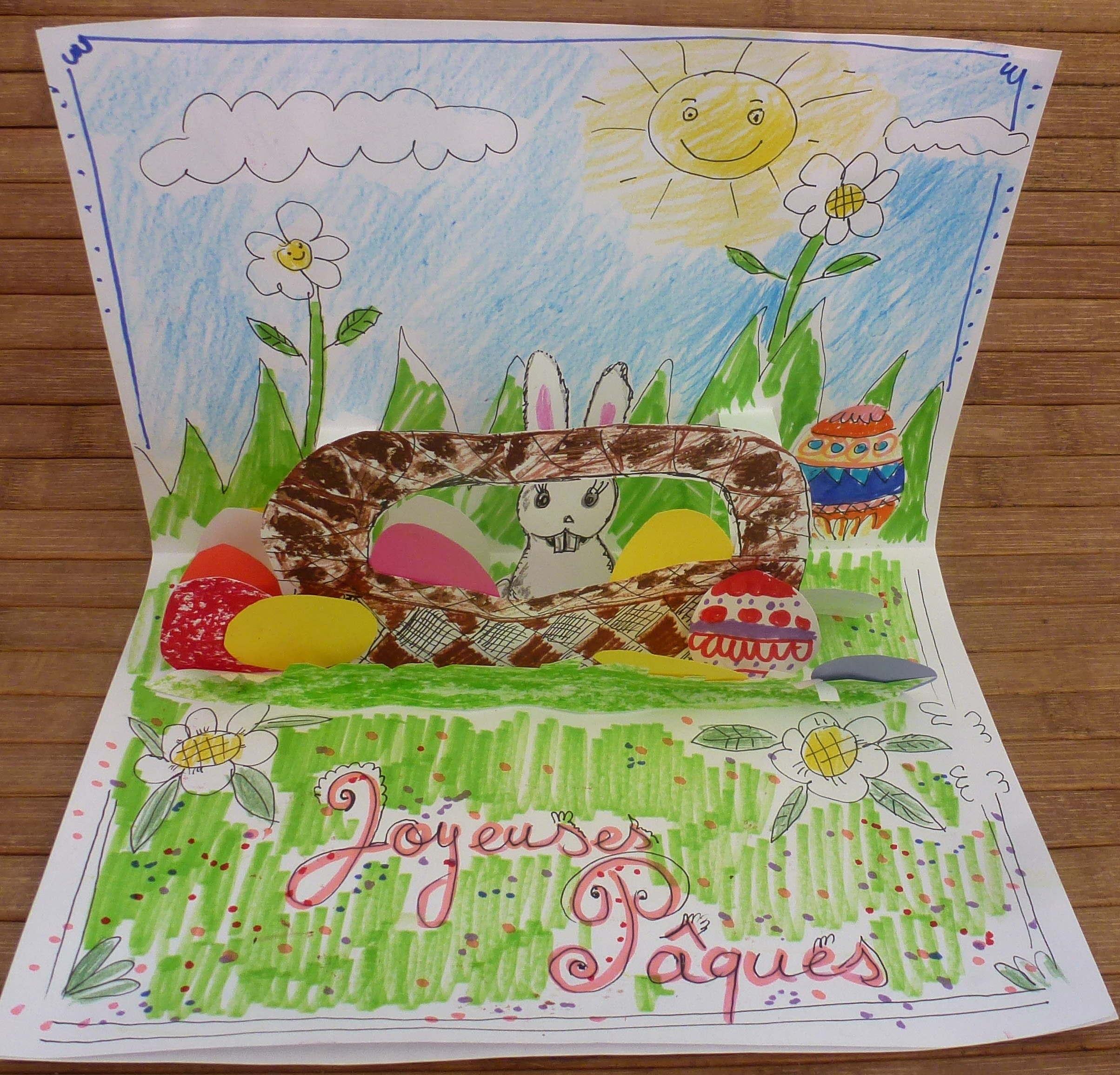 Carte pop-up carte pop up lapin 5