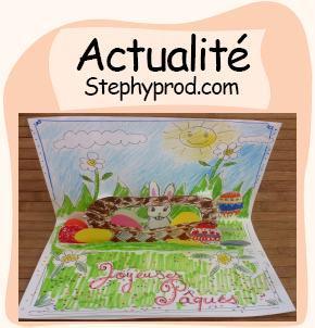 Actualité Carte pop-up Pâques à fabriquer soi même pour les enfants et les bébés.