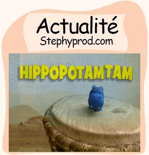 Actualité Hippopotam-tam Chanson Clip d'animation en stop motion pour les enfants et les bébés.