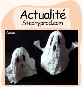 Actualité Petit Fantôme en papier mâché pour Halloween pour les enfants et les bébés.
