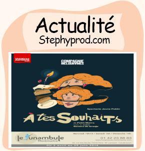 Actualité Spectacle enfants A tes souhaits à Paris au Funambule pour les enfants et les bébés.