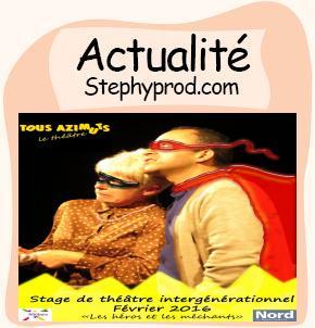 Actualité Stage de théâtre enfants-adultes  à Roubaix, février 2016 pour les enfants et les bébés.