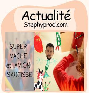Actualité SUPER VACHE et AVION SAUCISSE Clip avec des maternels pour les enfants et les bébés.