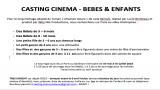 Casting  Cinema bébés enfants film Chanson douce