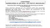 CASTING GARCONS 9-10 ans - LE PETIT NICOLAS