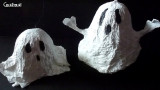 Petit Fantôme en papier mâché pour Halloween
