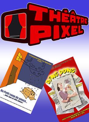 75018 Paris. Théâtre pour enfants. l'affiche et la programmation des Spectacles jeune public du Théâtre Pixel.