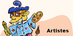 Vous cherchez une illustration, un dessin, une musique, une chanson personnalisée ou à réaliser un site internet, contacter directement des artistes en la matière.