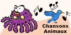 Chansons pour les enfants sur les animaux.