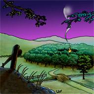 Si vous cliquez, vous avez le dessin de Well en grande taille sur coloriages pour enfants.com. La forêt des loups. Une illustration de la chanson pour enfants La valse des loups.