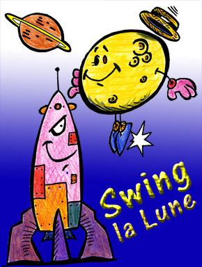 Spectacle pour enfants de Stéphy Swing la Lune.