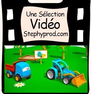 Vidéo Dessin animé La construction d'un tracteur pour les enfants et les bébés.