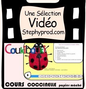 Vidéo Coccinelle en papier mâché à fabriquer avec les enfants pour les enfants et les bébés.