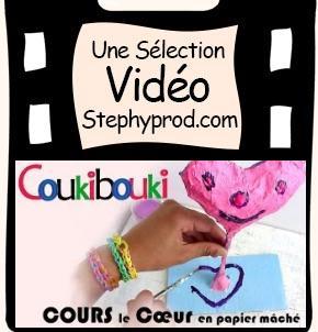 Vidéo Cœur en papier mâché pour la Fête des Mères pour les enfants et les bébés.