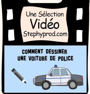 Vidéo Comment dessiner une voiture de police pour les enfants et les bébés.