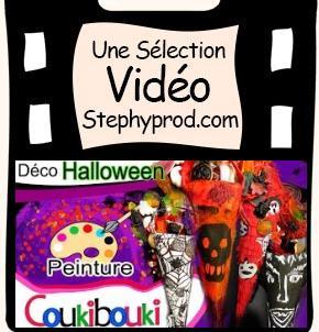 Vidéo Décoration Halloween poches à bonbons d'Halloween pour les enfants et les bébés.