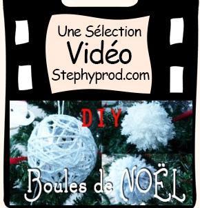 Vidéo Décoration de Noël - Les boules de Noël et les pompons de laine pour les enfants et les bébés.