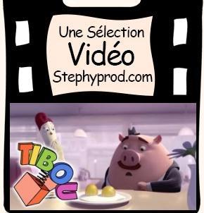 Vidéo Dessin animé en 3D, L'oeuf ou la poule pour les enfants et les bébés.