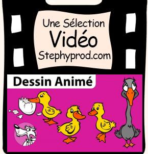 Vidéo Conte dessin animé Le vilain petit canard pour les enfants et les bébés.