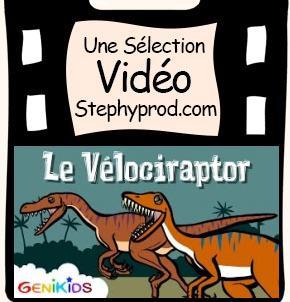 Vidéo Dessin animé sur les dinosaures, le Vélociraptor pour les enfants et les bébés.