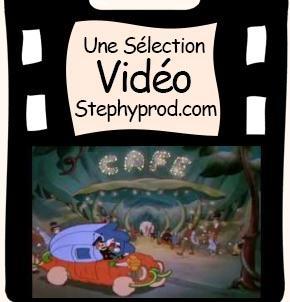 Vidéo Dessin animé Disney, Cabaret de nuit pour les enfants et les bébés.