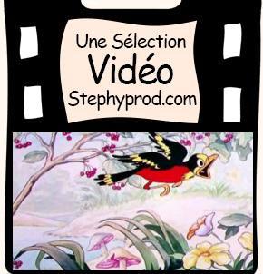Vidéo Dessin animé Disney  - Les oiseaux au printemps pour les enfants et les bébés.