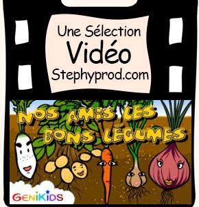 Vidéo Dessin animé éducatif Nos amis les bons légumes pour les enfants et les bébés.
