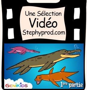 Vidéo Dessin animé éducatif dinosaures, Les Pliosaures pour les enfants et les bébés.