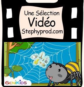 Vidéo Dessin animé éducatif La toile d'araignée pour les enfants et les bébés.