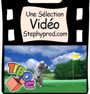 Vidéo Dessin animé Bernard joue au golf pour les enfants et les bébés.