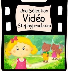 Vidéo Dessin animé le conte Boucle d'or et les 3 ours pour les enfants et les bébés.