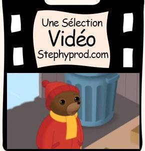 Vidéo Dessin animé Petit Ours Brun fait un bonhomme de neige pour les enfants et les bébés.