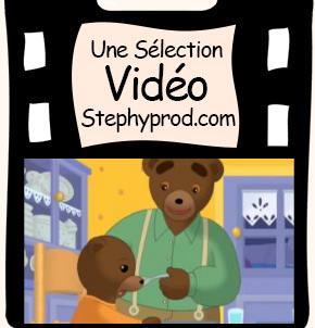Vidéo Dessin animé Petit Ours Brun ne veut pas manger sa soupe pour les enfants et les bébés.