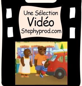 Vidéo Dessin animé Petit Ours Brun part en vacances pour les enfants et les bébés.