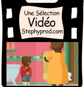 Vidéo Dessin animé Petit Ours Brun s'amuse avec le chat pour les enfants et les bébés.