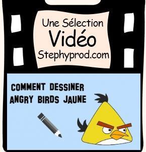 Vidéo Apprendre à dessiner un angry bird jaune, un tutoriel facile pour les enfants et les bébés.